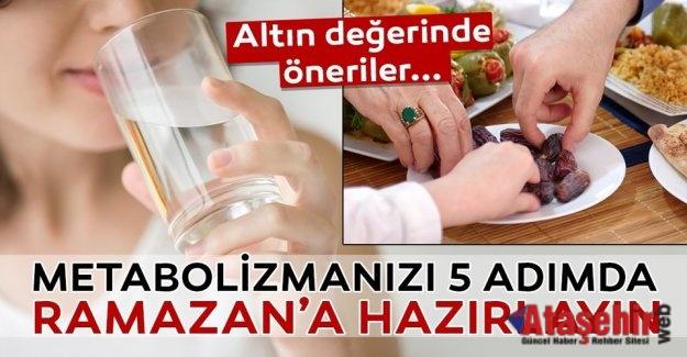 METABOLİZMANIZI 5 ADIMDA RAMAZAN'A HAZIRLAYIN
