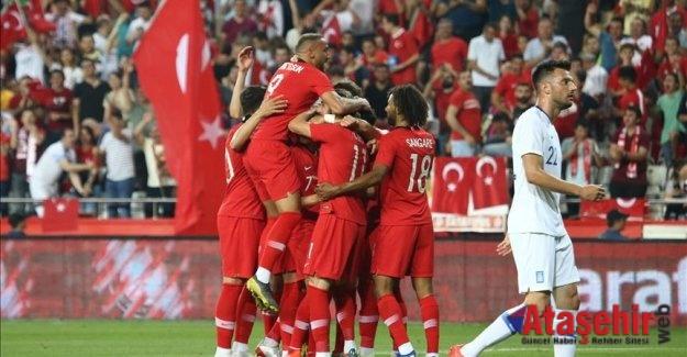 Türkiye Yunanistan'ı 2-1 yendi.