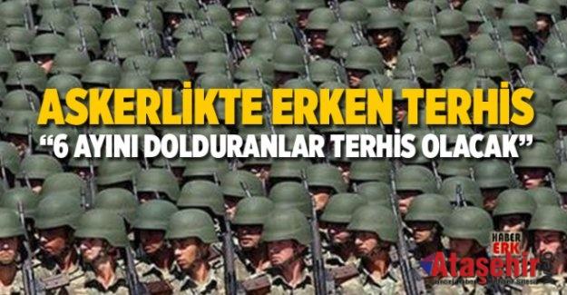 130 bin asker erken terhis olacak