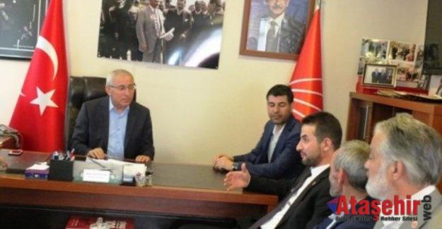 Saadet Partisi Ataşehir'den CHP'ye Bayramlaşma ziyareti