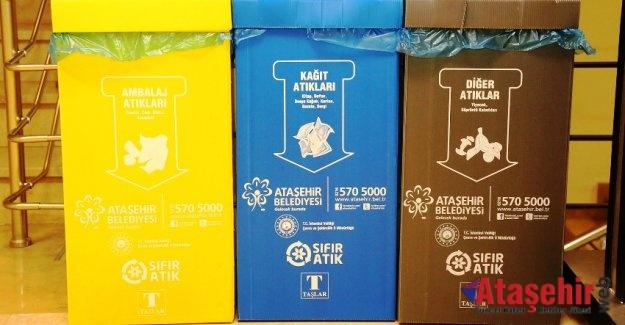 Ataşehir Belediyesi çöpleri yerinde ayrıştırıyor