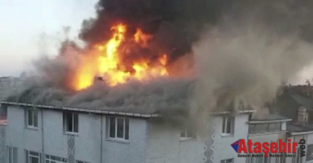 Ataşehir'de korkutan yangın