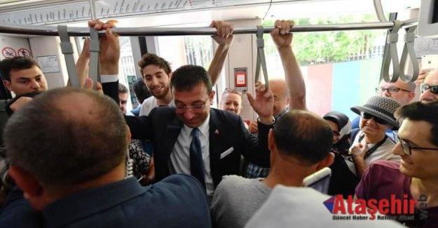 Tramvay İBB Başkanı gördü!