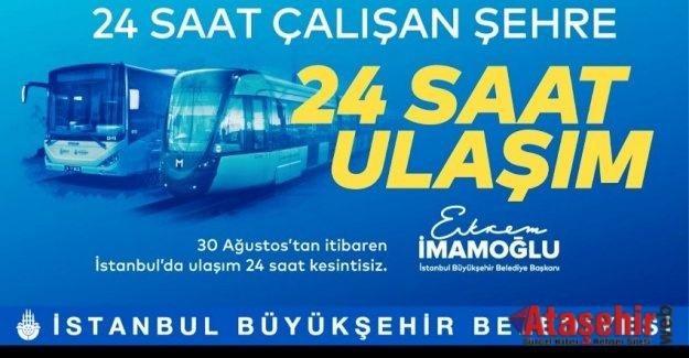 İSTANBUL'DA GECE SEFERLERİ BAŞLIYOR