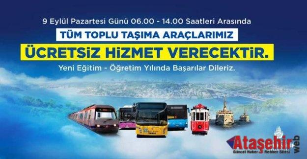 İstanbul'da pazartesi toplu ulaşım ücretsiz placak
