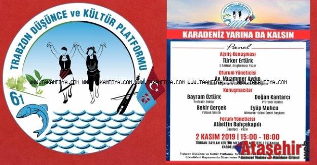 """Trabzonlular """"Karadeniz'in çevresel sorunlarını"""" tartışıyor"""