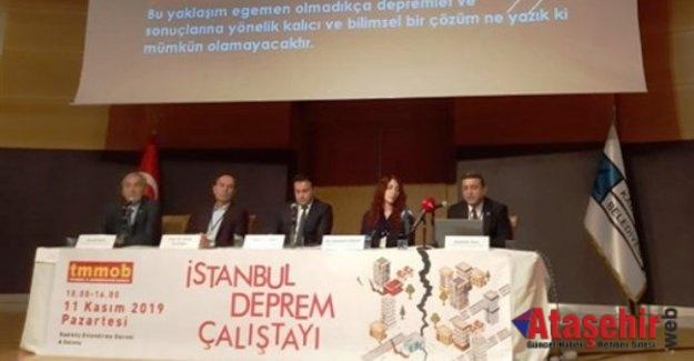 İstanbul'da Deprem Çalıştayı Gerçekleştirildi