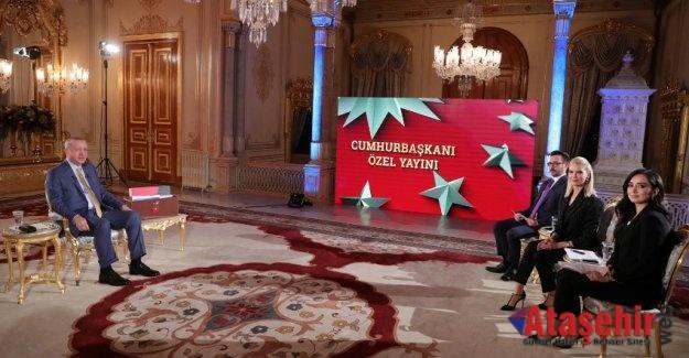Cumhurbaşkanı Recep Tayyip Erdoğan,  TRT 'de gündeme ilişkin soruları yanıtladı.