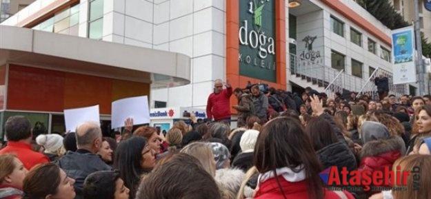 Doğa Koleji'nde boykot sürüyor veliler yönetim binasına girdi