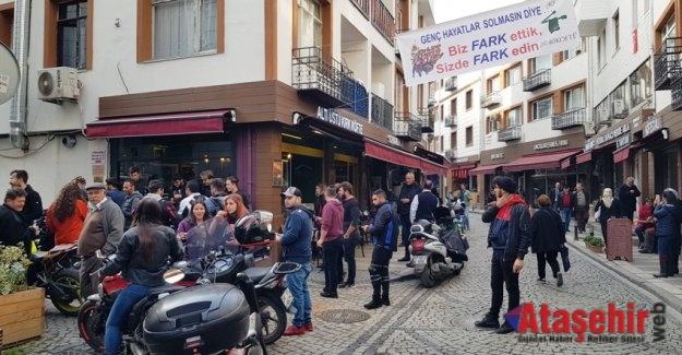Motorcular ve restoran sahipleri ortak etkinlik