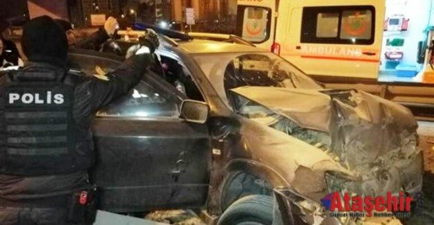 Ataşehir'de korkunç kaza, 14 yaşındaki çocuk bacağından oldu!