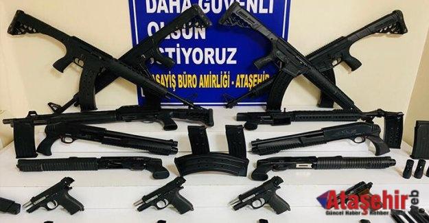 Ataşehir'de yasa dışı silah ticareti yapan 3 kişi yakalandı