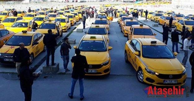 İstanbul'da taksicilerden eylem