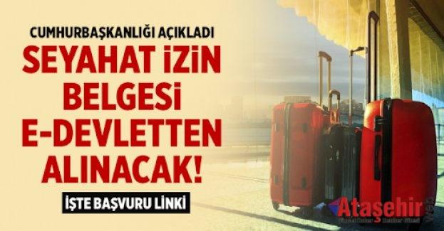 Seyahat İzin Belgesi başvuruları e-Devlet'ten yapılabilecek
