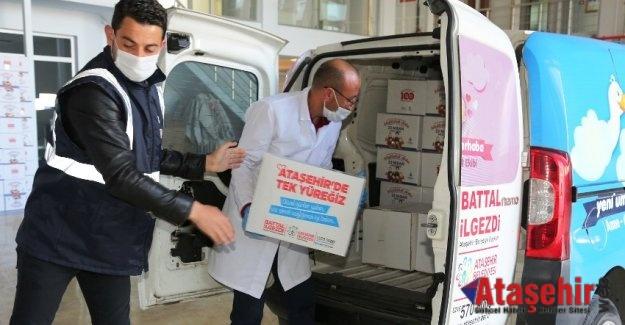 Ataşehir'de Sıcak yemek ve Kumanya dağıtımı devam ediyor