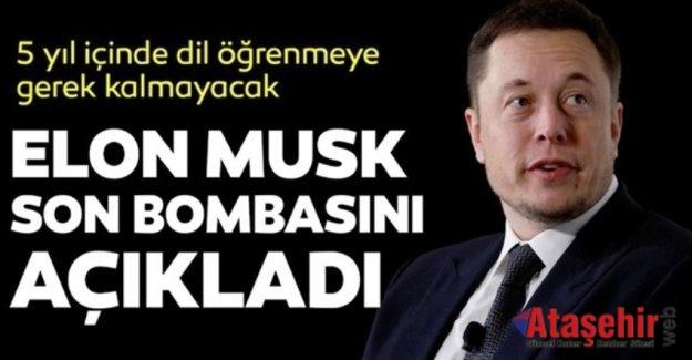 Elon Musk: Beş yıl içinde dil öğrenmeye gerek kalmayacak.