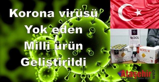 Korona virüsü yok eden milli ürün geliştirildi!