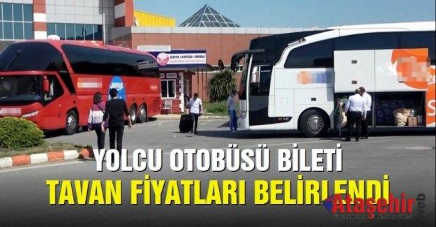 Yolcu otobüsü bilet fiyatları belirlendi