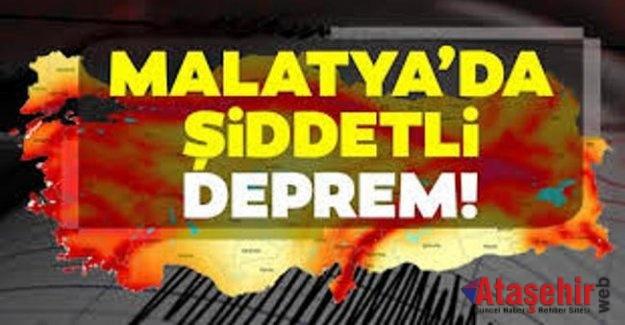 Malatya'da 5 büyüklüğünde deprem meydana geldi
