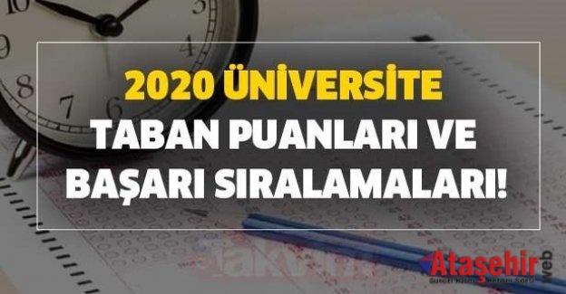 2020 Üniversitelerin Güncel Taban Puanları ve Başarı Sıralamaları