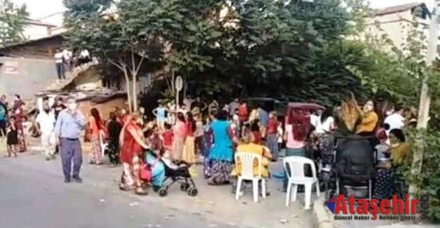 Ataşehir'de Sosyal mesafesiz sokak düğününe polis baskını