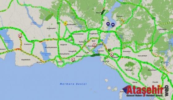İstanbul'da İBB trafik yoğunluğu yüzde 8'e düştü
