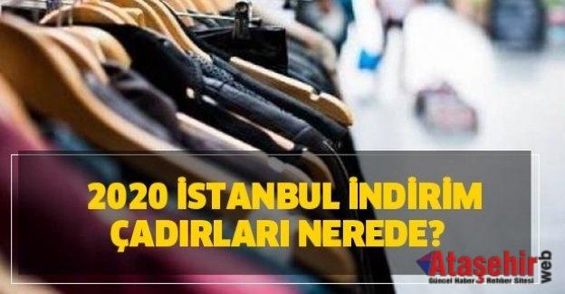İstanbul indirim çadırları nerede? İndirim çadırları adresleri