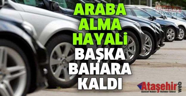 ARABA ALMA HAYALİ BAŞKA BİR BAHARA KALDI
