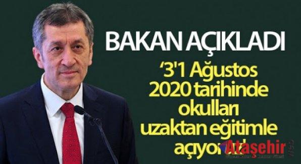 Okullar 31 Ağustos'ta uzaktan eğitimle açılacak