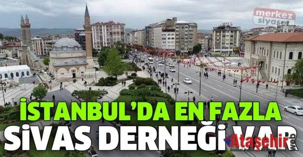 İSTANBUL'DA EN FAZLA DERNEĞİ BULUNAN İL SİVAS