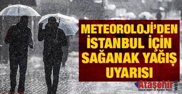 İSTANBUL'DA  BU GECEDEN İTİBAREN YAĞIŞLAR BAŞLIYOR