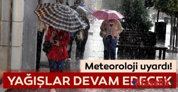 İSTANBUL'DA YAĞIŞLAR HAFTASONU DA DEVAM EDECEK
