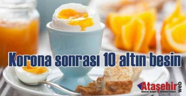 COVID SONRASI VÜCUT DİRENCİNİ ARTIRAN 10 BESİN