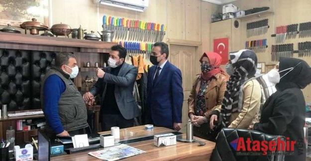 Ataşehir teşkilatı, 17 mahallede eş zamanlı ziyaretler geçekleştirdi