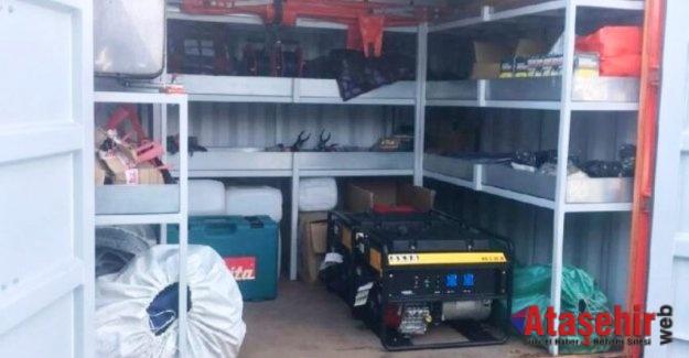 Deprem konteynerleri hırsızların hedefi oldu