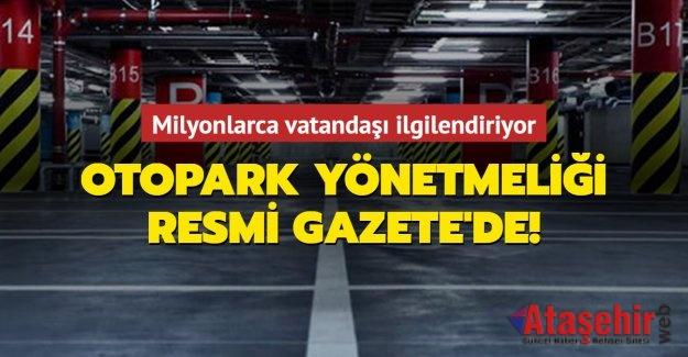 Otopark yönetmeliği Resmi Gazete'de yayımlandı