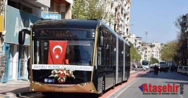 YERLİ ELEKTRİKLİ OTOBÜSLER MANİSA 'DA HİZMET VERMEYE BAŞLADI