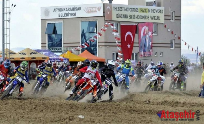 Avrupa'nın motokrosçuları Afyonkarahisar'da buluştu