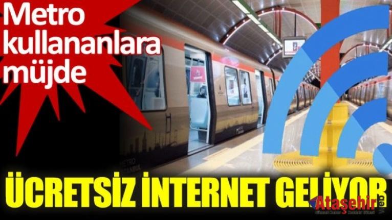 İSTANBUL'UN METROLARINA İNTERNET GELİYOR