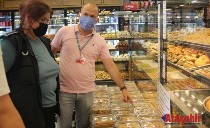 Maltepe'de Bayram öncesi gıda işletmelerine denetim