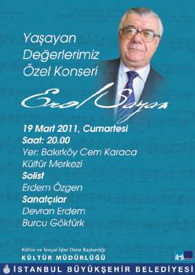 Erol Sayan özel konseri 19 Mart'ta Cem Karaca Kültür Merkezi'nde
