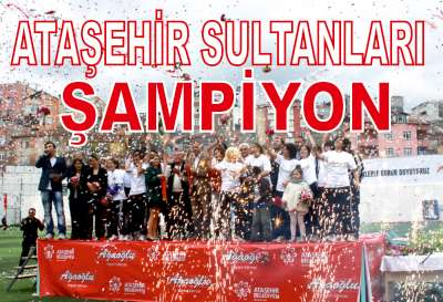 Ataşehir'in Sultanları şampiyonluğu seyircisiyle kutladı