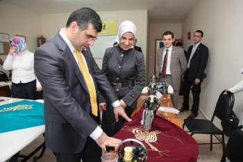 Başkan Keskin, ilçedeki İstanbul Büyükşehir Belediyesi Sanat ve Meslek Eğitimi Kursları'nı ziyaret etti.