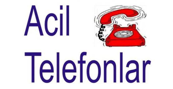 ACİL TELEFONLAR