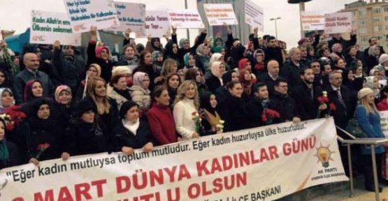 Ak Parti Ataşehir Kadın Kolları Kadınlar Günü Yürüyüşü