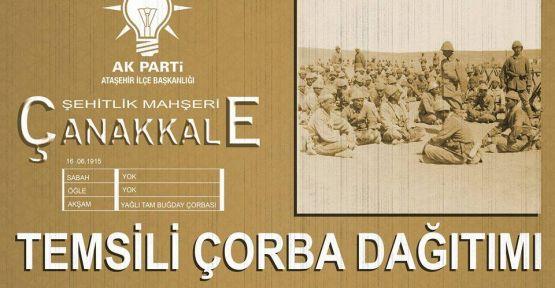 Ak Parti Ataşehir'den Temsili Çorba Dağıtımı