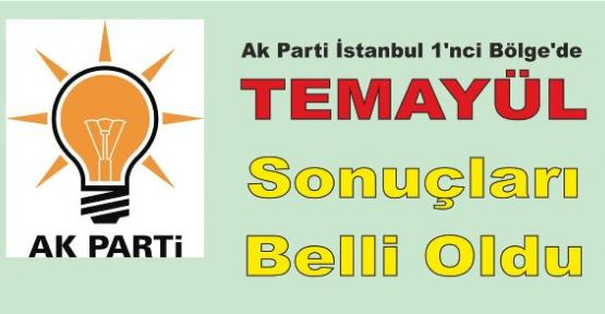 Ak Parti İstanbul 1'nci Bölge Temayül Sonuçları Belli Oldu