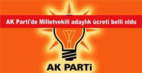 AK Parti'de Milletvekili adaylık ücreti belli oldu
