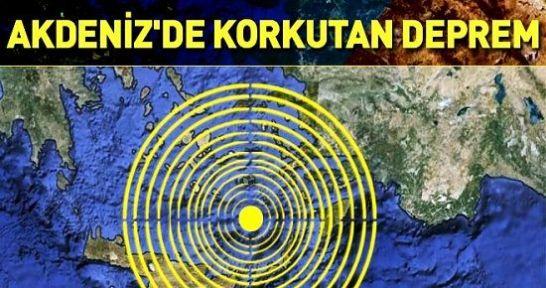 Akdeniz iki depremle sallandı!
