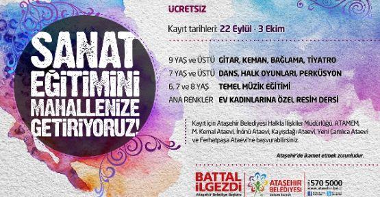 Ataşehir Belediyesi Sanat'ı Mahallenize Getiriyor